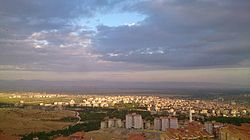 An overview of Malatya taken from TOKI housing.
