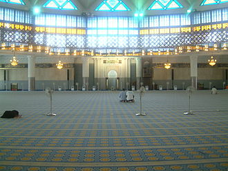 National Mosque of Malaysia - An inside view of the National Mosque of Malaysia