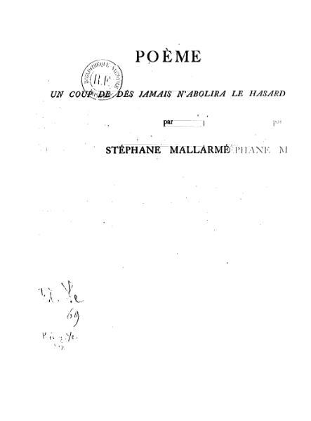 File:Mallarmé - Un coup de dés 1914.djvu