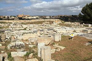 Melite (ancient city) - Ruins of the Domvs Romana, one of the few surviving remains of Melite