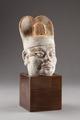 Manshuvud av keramik, tillverkat i Kina cirka 720 (Tang dynastin) - Hallwylska museet - 96159.tif