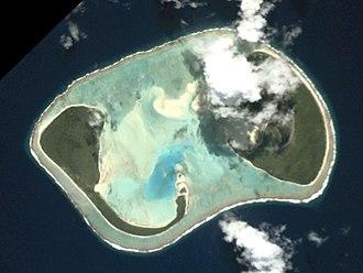 Manuae (Cook Islands) - An aerial view of Manuae