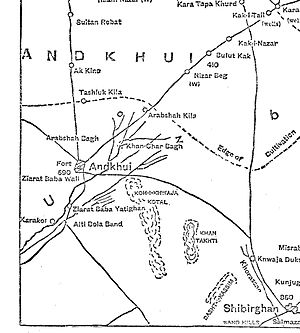 Andkhoy - 1886 Map of Andkhoy District