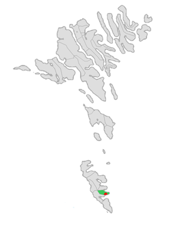 Location of Porkeris kommuna in the Faroe Islands
