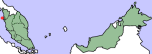 Crown Colony of Penang - Location of Penang