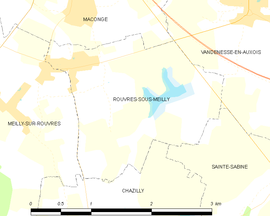 Mapa obce Rouvres-sous-Meilly