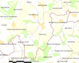 Mapa obce Diarville