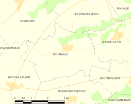 Mapa obce Richarville
