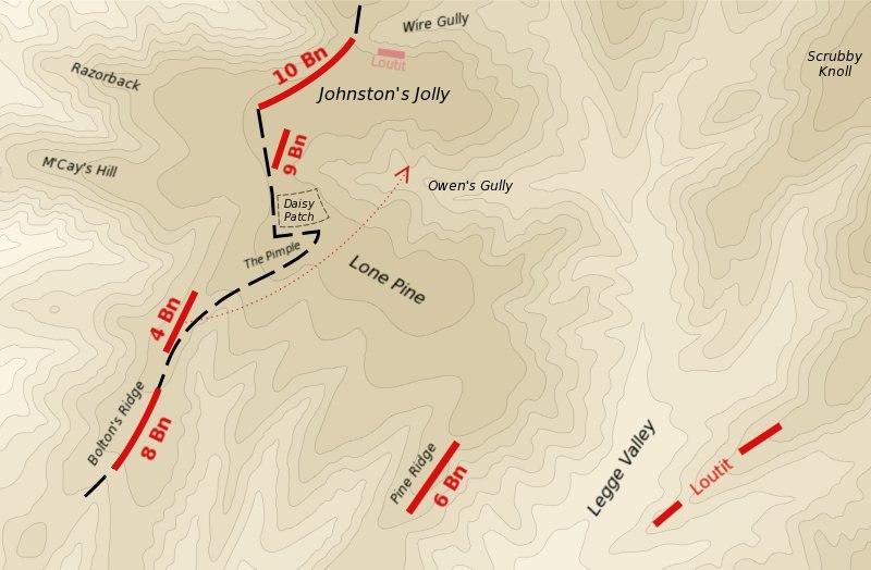 Map of 400 Plateau Anzac landing