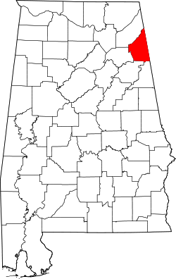 Map of Alabama highlighting Cherokee County.svg