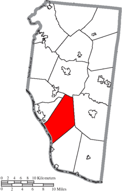 Location of Monroe Township in Clermont County