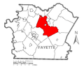 Map of Dunbar Township, Fayette County, Pennsylvania Highlighted.png