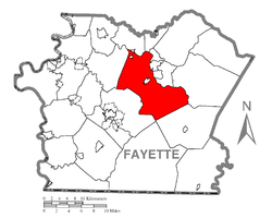 Location of Dunbar Township in Fayette County