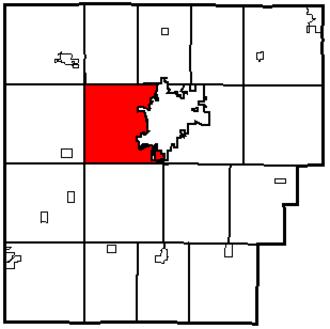 Liberty Township, Hancock County, Ohio - Image: Map of Hancock County Ohio Highlighting Liberty Township, small size