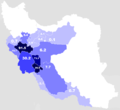 Map of Luri-inhabited provinces of Iran, according to a poll in 2010.PNG