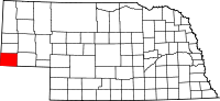 Map of Nebraska highlighting Kimball County