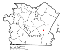 Location of Ohiopyle in Fayette County