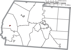 Location of South Salem in Ross County