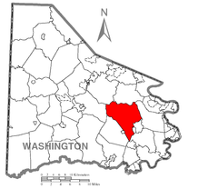 Map of Somerset Township, Washington County, Pennsylvania Highlighted.png
