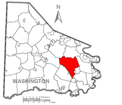 Location of Somerset Township in Washington County