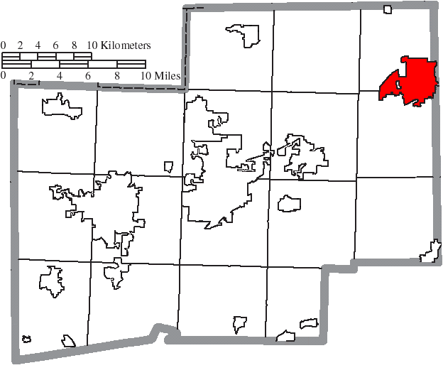 Location of Alliance in Stark County