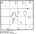 Map of Wayne County Ohio Highlighting Marshallville Village.png