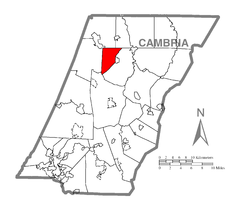 Map of West Carroll Township, Cambria County, Pennsylvania Highlighted.png