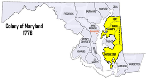 5th Maryland Regiment - Recruitment Areas