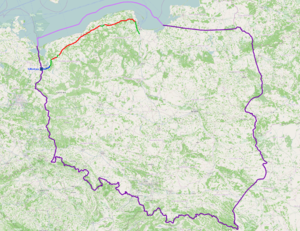 National road 6 (Poland) - Image: Mapa DK6