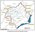 Mapa de la red hidrográfica de la demarcación hidrográfica del Segura.jpg