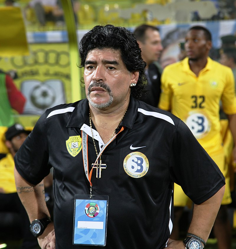 image of Maradona at 2012 GCC Champions League final