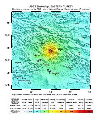 2010 Elazığ earthquake - USGS ShakeMap for the event