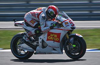 Gresini Racing - Marco Simoncelli at the 2011 Australian Grand Prix a week before he died at the Malaysian Grand Prix