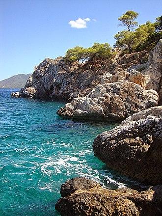 Agistri - Image: Mareza beach,Angistri