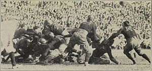 Henry Wakefield (American football) - Image from the Vanderbilt–Marines game. Wakefield is at the far right, number 14.
