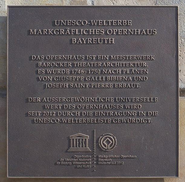 File:Markgräfliches Opernhaus Plakette Weltkulturerbe.jpg