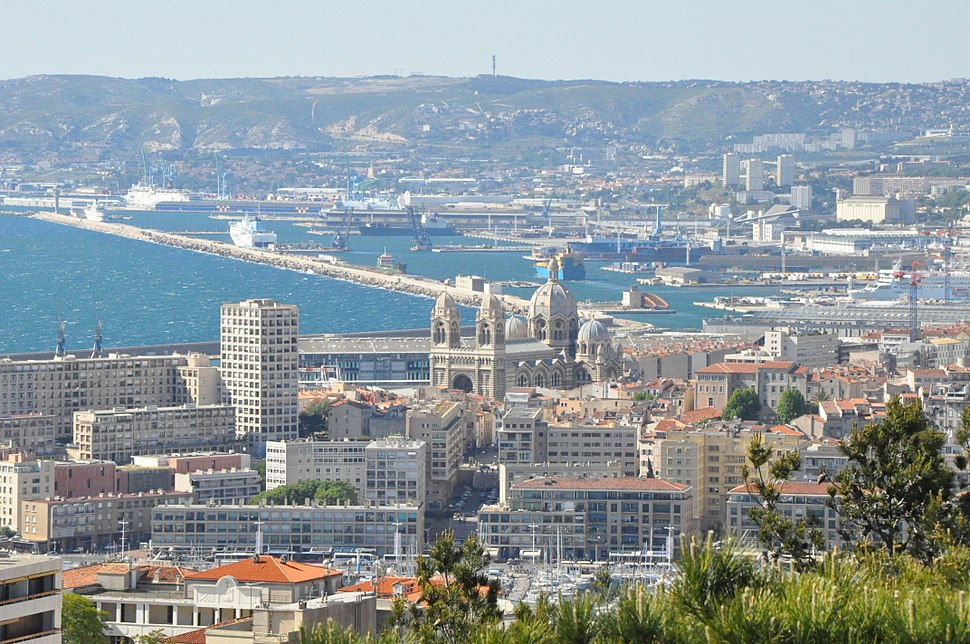 Marseille (France), view on the city and the ports