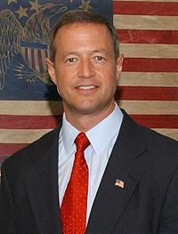 Martin O'Malley, photo portrait, visiting Maryland National Guard, June 8, 2008.jpg