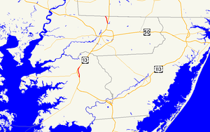 Maryland Route 675 - Image: Maryland Route 675 map