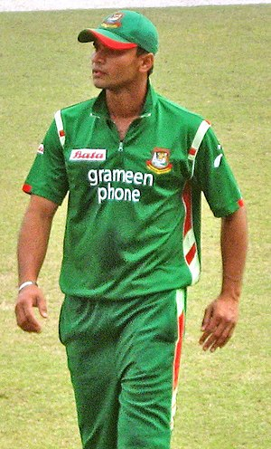 Mashrafe Mortaza - Mortaza amid a one-day international match against Zimbabwe in Shere Bangla National Stadium, Dhaka on 22 January 2009.