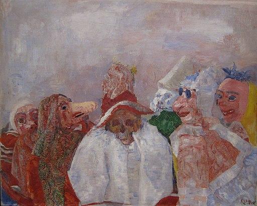 Masks Confronting Death (1888), James Ensor