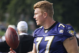 Matt Birk Ravens Training Camp August 5, 2009.jpg