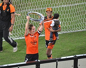 Matt Smith (footballer, born 1982) - Smith after winning the Grand Final with Brisbane Roar in 2012