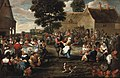 Mattheus van Helmont - A peasant's feast in the village square.jpg