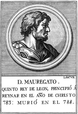Mauregatus of Asturias - An 18th-century portrait.