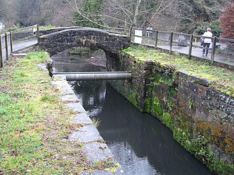 Lagan Canal - McLeave's Lock, which retains its original footbridge and lock keeper's cottage