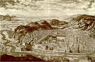 Great Mosque of Mecca - Mecca in 1850, during the Ottoman period