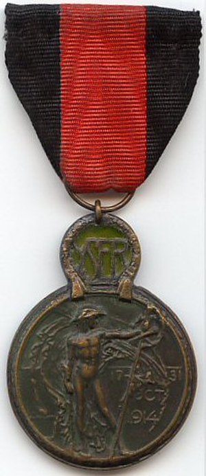 Yser Medal - Image: Medaille de l Yser 1914 Belgique