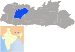Location of East Garo Hills district in Meghalaya
