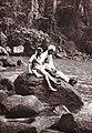 Meharban Singh Gurbachan Kaur (sister) and Ashwinder (daughter). Thika Falls. 1970.jpg